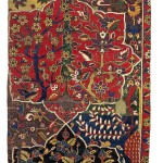 From the Estate of Eva Louise Woodhead Feuerstein A fragment of the Von Hirsch Northwest Persian Garden carpet (one quarter), 17th century approximately 7ft. 9in. by 2ft. 11in. (2.36 by 0.89m.) $80,000-120,000