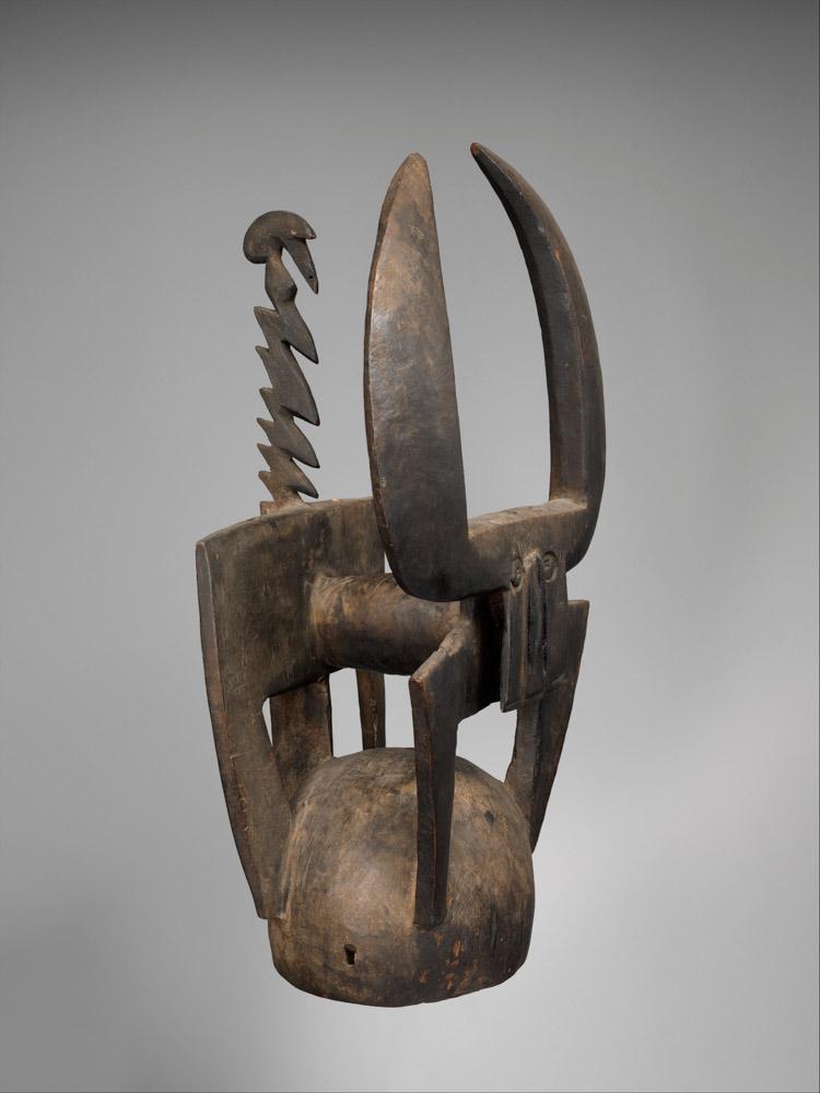 Buffalo Helmet Mask (Kablé), Burkina Faso, 19th-mid 20th century