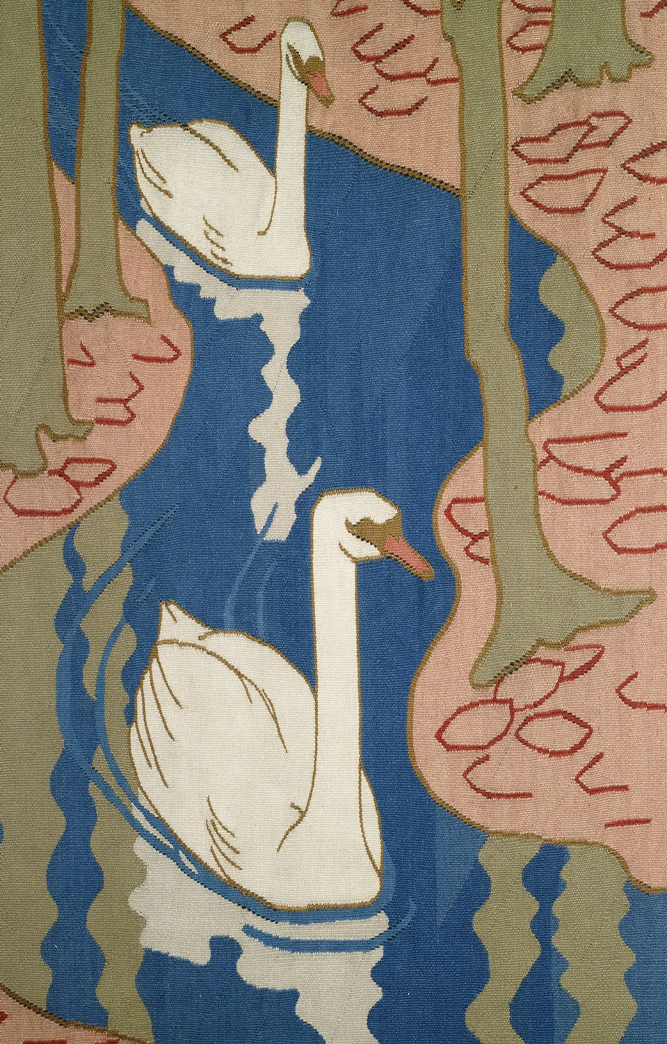 Lot-297---tapestry-Five-swans---detail
