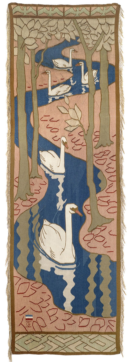 Lot-297---tapestry-Five-swans