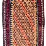 Lot 101: Balouch sofreh, Persia circa 1900, 6ft. x 2ft. 11in. Estimate: € 1,200 – 1,600