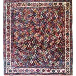 Lot 137: Sherkalu rug, Persia circa 1870, 6ft. 10in. x 6ft. 2in. Estimate: € 8,000 – 12,000