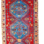 Lot 149: Karapinar long rug, Turkey circa 1800, 7ft. 11in. x 4ft. 5in. Estimate: € 6,000 – 8,000