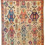 Lot 169: Azerbaijan carpet, Azerbaijan 18th century, 8ft. 6in. x 7ft. Estimate: € 15,000 – 20,000