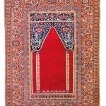 Lot 186: Ghiordes prayer rug, Turkey circa 1730, 5ft. 8in. x 4ft. 5in. Estimate: € 15,000 – 20,000