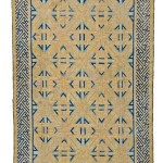 Lot 220: Ningxia rug, China circa 1700, 7ft. 10in x 4ft. 3in. Estimate: € 15,000 – 20,000