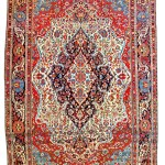 Kashan Mohtashem carpet, Persia circa 1880, 10ft. 11in. x 7ft. 6in. Estimate: € 20,000 – 30,000
