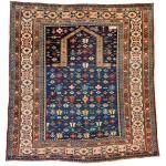 Lot 58: Chi Chi prayer rug, Caucasus dated 1297AH (?)/ 1862 AD, 4ft. 9in. x 4ft. 4ft. Estimate: € 5,000 – 6,000