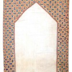 Lot 7 : Kermina suzani, Uzbekistan circa 1840, 8ft. 2in. x 5ft. 9in. Estimate: € 4,000 – 6,000