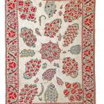 Lot 84: Nurata suzani, Uzbekistan circa 1850, 7ft. 5in. x 5ft. 3in. Estimate: € 6,000 – 8,000