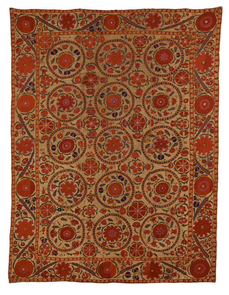Bukhara Suzani, Uzbekistan, mid 19th century (Estimate $4,000-$6,000) skinner boston