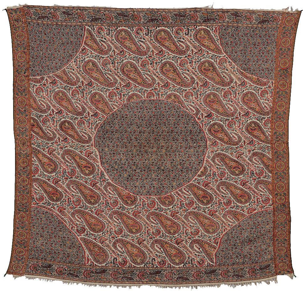 Moon Shawl, Kashmir, second quarter 19th century (Estimate $2,000-$3,000) skinner boston