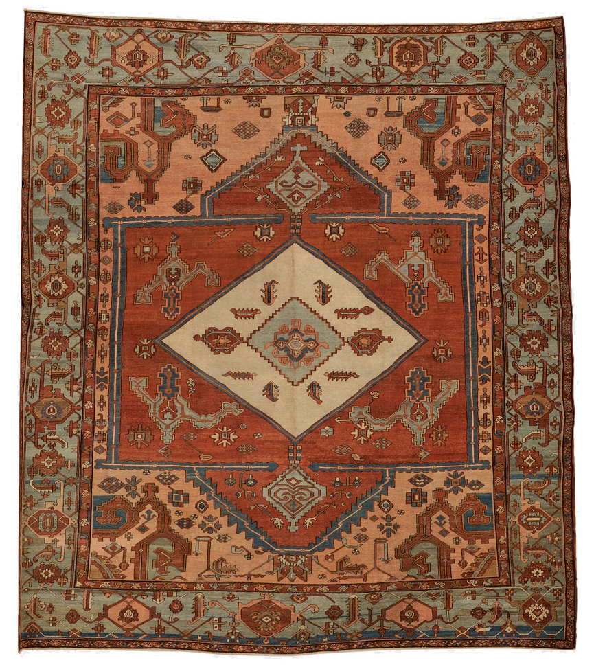 Antique Serapi Carpet, Northwest Persia, late 19th century, 13 ft. 2 in. x 11 ft. 4 in. (Estimate $10,000-$12,000) skinner boston