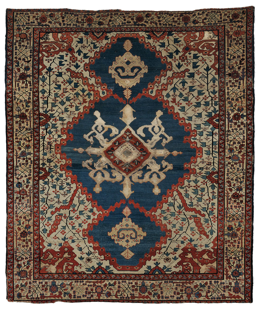 Bakshaish Carpet, Northwest Persia, mid-19th century, 13 ft. 2 in. x 11 ft. 4 in (Estimate $15,000-$18,000) skinner boston
