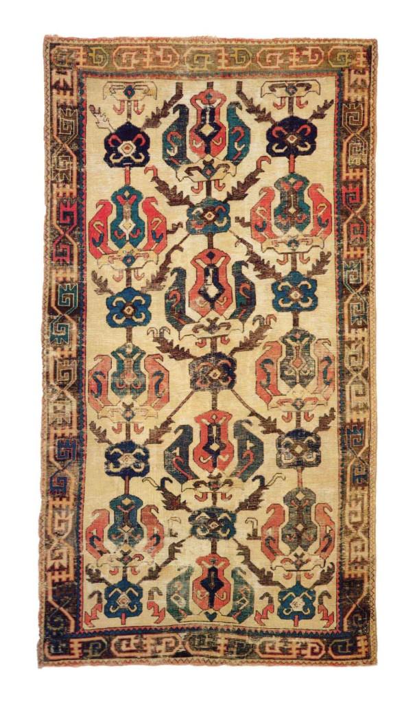Franz-Bausback-Palm-tapestry--Material,-110-x-203-cm-Armenia,-Caucasus,-17th-century