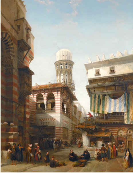 Lot 4, David Roberts R.A, 1796-1864, The Bazaar Of The Coppersmiths, Cairo Estimate £600,000 — £800,000