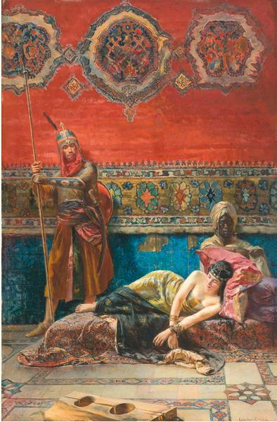 Lot 22, Ferencz Eisenhut, 1857 – 1903, Captive In The Harem Estimate £50,000 — £70,000