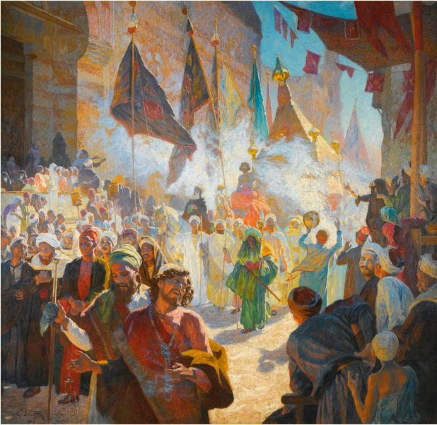 Lot 7, Ludwig Deutsch, 1855-1935 The Procession Of The Mahmal Through The Streets Of Cairo Estimate    1,000,000 — 1,500,000