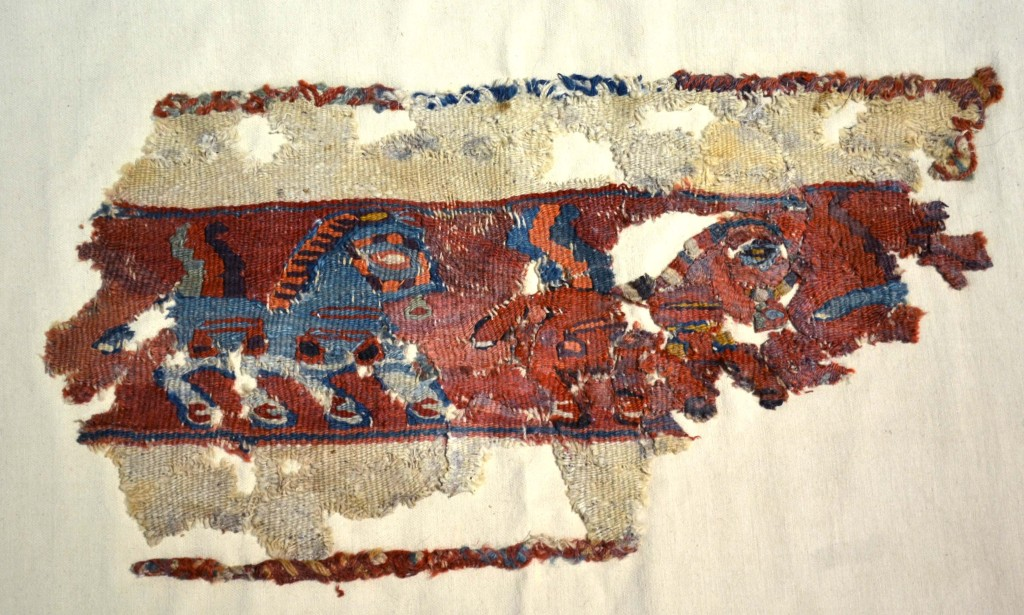 Flatweave fragment, Central Asia, 5th-4th century BC, 0.43 x 0.23m. Sold £5,750 Netherhampton Salerooms Salisbury