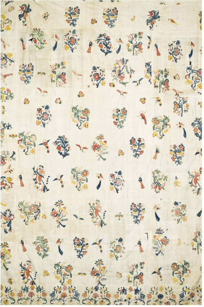 Lot 13, A patchwork of chintz, India and Europe, 18th-19th Century. Estimate £2000-3000