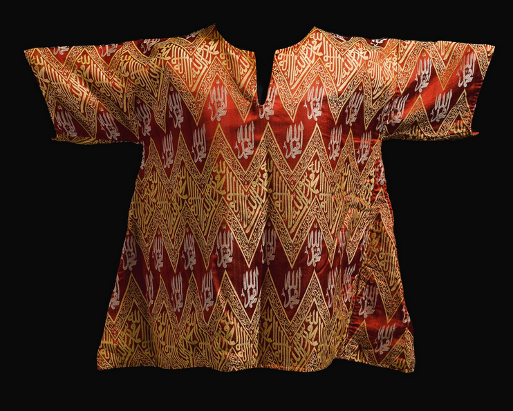 Lot 27, An Ottoman silk Talismanic Shirt, Turkey, 19th Century Estimate £8,000 — 10,000