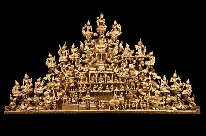Lot 111, A Pediment Sculpture, Burma, mid-19th century