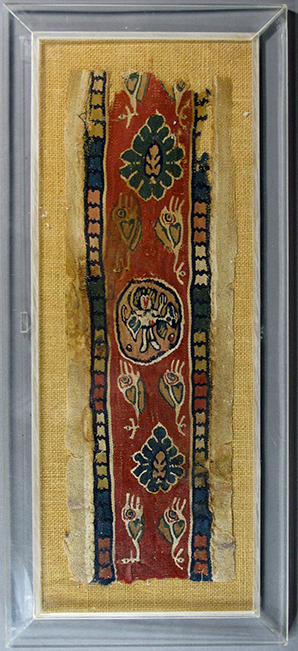 Lot 310, A Coptic textile border fragment, Egypt, 6th-10th Century