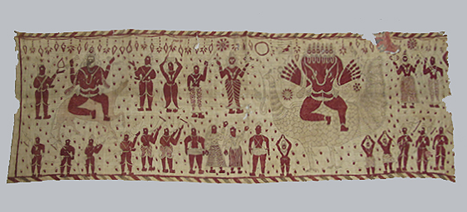 Lot 288, A cloth temple hanging fragment, South India, Early 19th Century