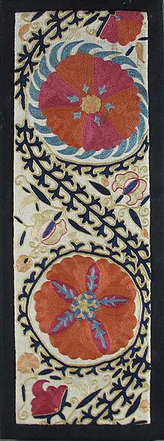 Lot 296, A suzani fragment, Uzbekistan, late 19th century