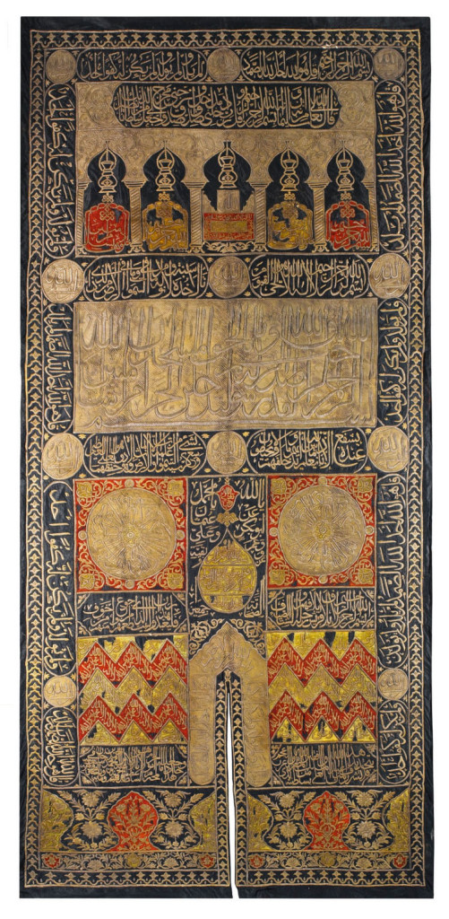 Lot 30, An Ottoman metal-thread curtain of the Holy Ka'ba door, Egypt, period of Sultan Abdulhamid I, Dated 1194 AH/1780 AD Estimate £80,000 — 120,000