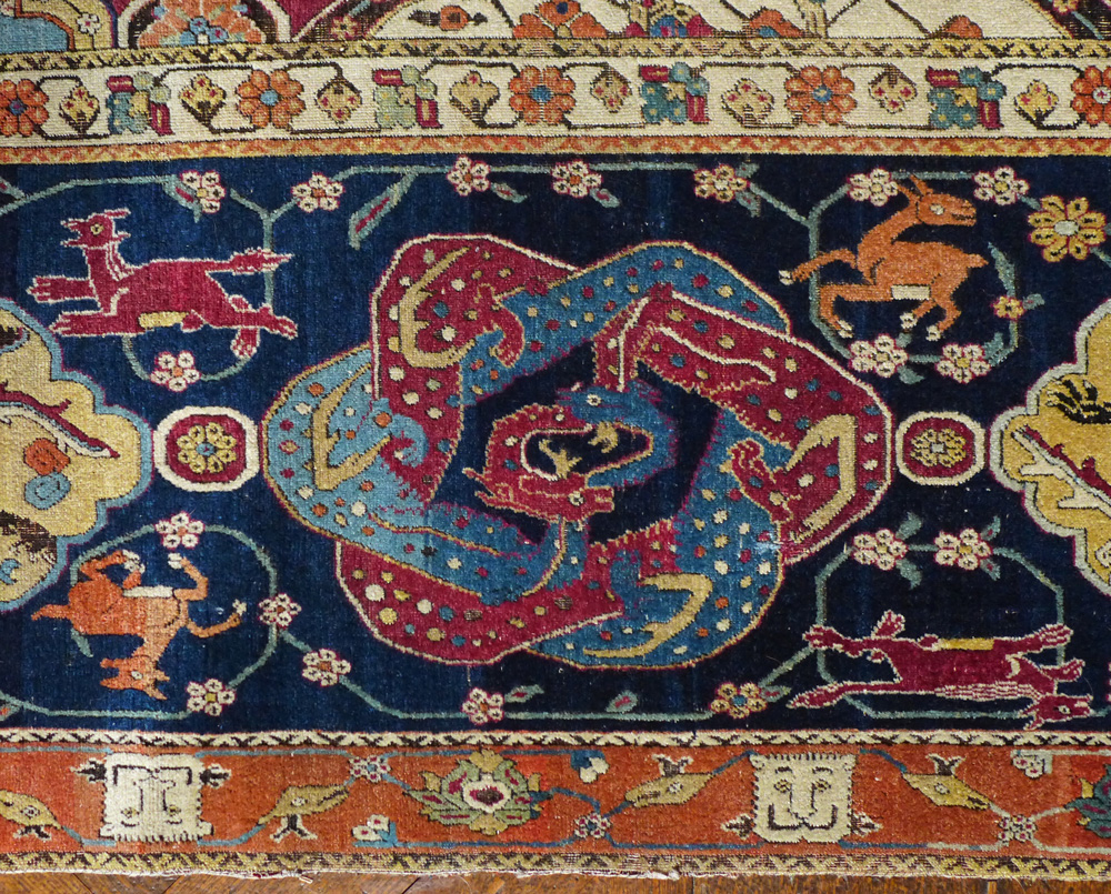 Border detail from a late-16th-century Persian Sanguszko carpet, Boughton House