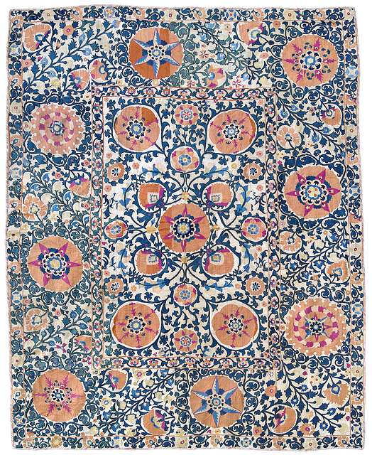 Lot 10. A Shakhrisyabz Suzani, Uzbekistan, 19th century. 245 x 200 cm. Estimate €10,000