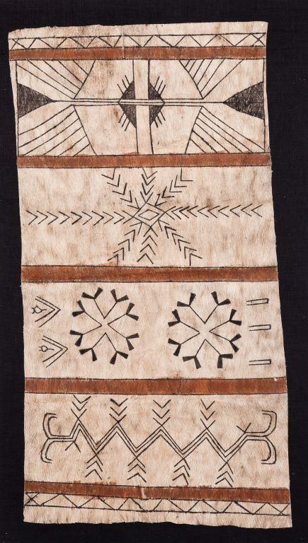 Tapa, bark panel, 107x54, 43x21.5ins, Santa Cruz Island, Pacific Ocean, c.1900, 5107, high res.image (2)