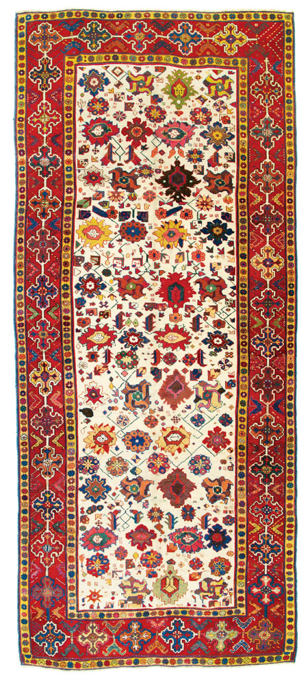 Lot 226<br> Azerbaijan carpet, Caucasus first half 19th century<br> Estimate: € 8,000 – 10,000