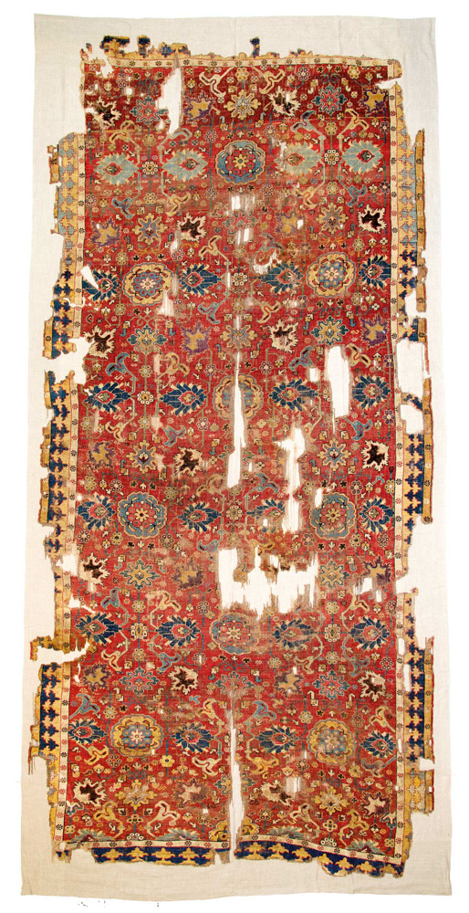 Lot 45<br> Kuba rug , Caucasus 17/18th century<br>Estimate: € 15,000 – 20,000
