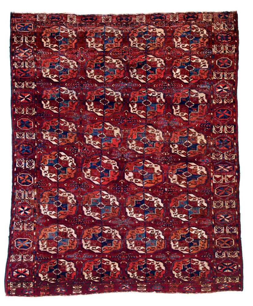 Lot 67<br> Tekke main carpet, Turkmenistan circa 1800<br> Estimate: € 9,000 – 11,000