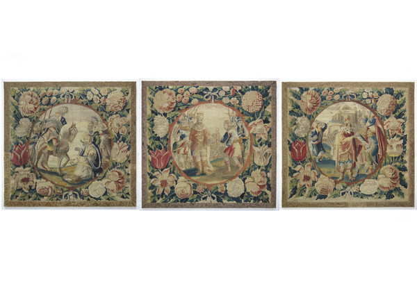 Three tapestry cushion covers. 1630 - 1650, Northern Netherlands. Possibly Delft or Gouda