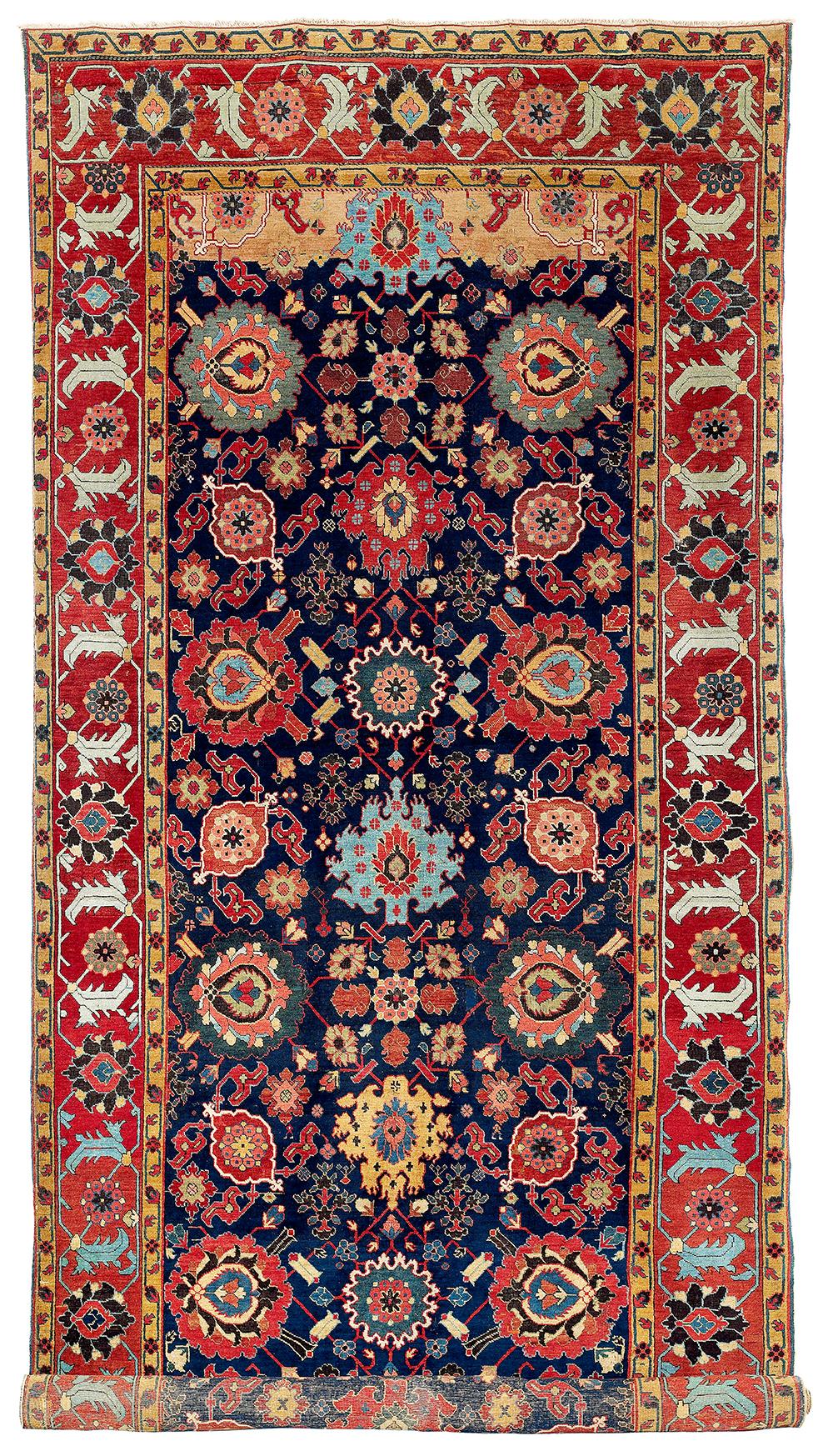 Lot 144, Northwest Persian kelleh, Azerbaijan, 18th century, estimate €70,000