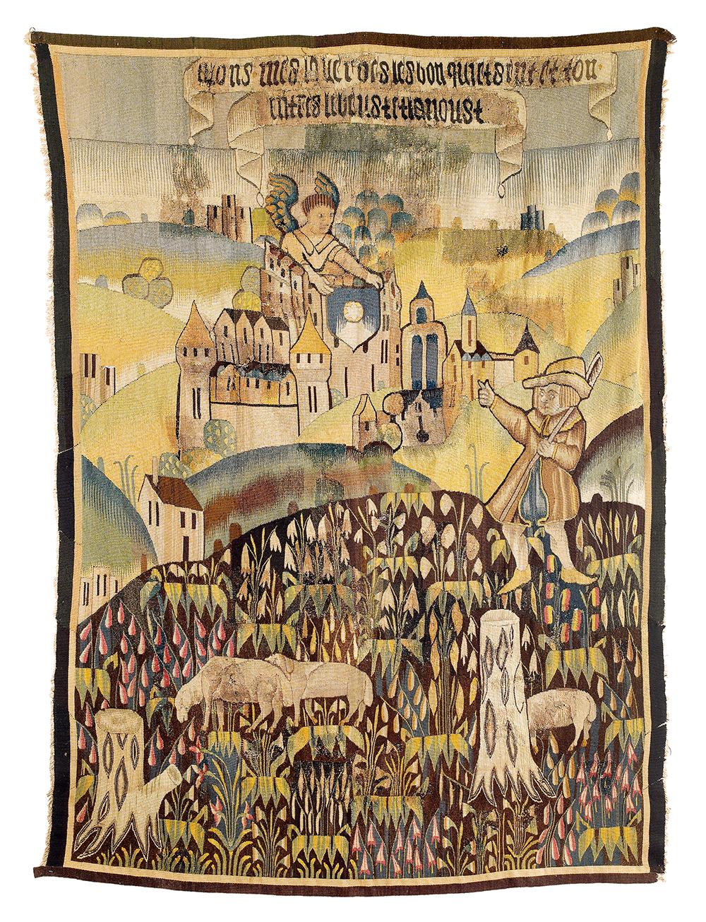 Tapisserie de la Marche, Tapestry, Central France, Limousin region, 16th century, 234 x 174 cm, estimate € 4,000