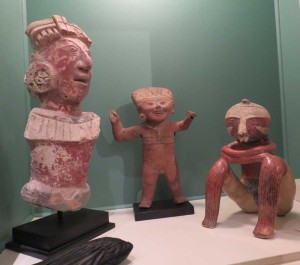 Bob Dowling's pre-Columbian ceramic statues at the San Francisco Tribal Art Association's 10th anniversary show