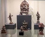 Zena Kruzick's small Indian bronzes at the San Francisco Tribal Art Association's 10th anniversary show