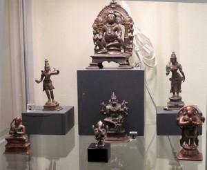 Zena Kruzick's small Indian bronzes at the San Francisco Tribal Art Association's 10th anniversary show