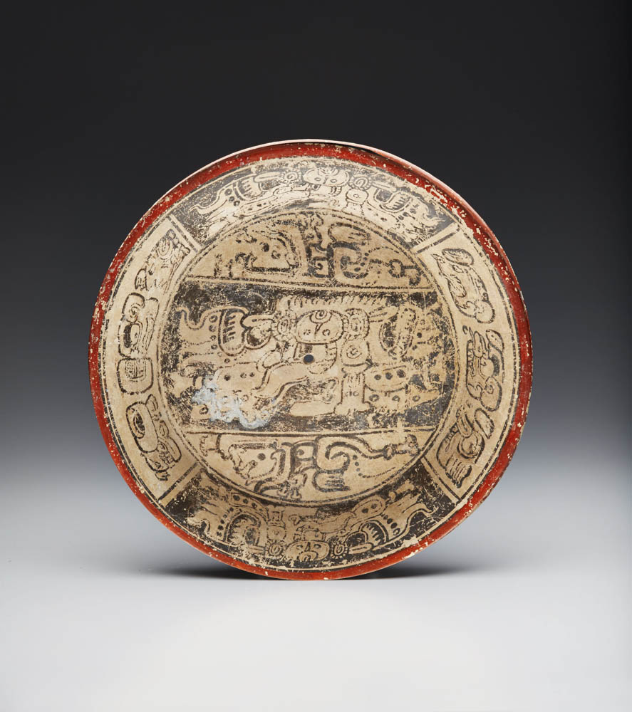 Lot 150 - Maya Painted Plate, Late Classic, ca. A.D. 550-950
