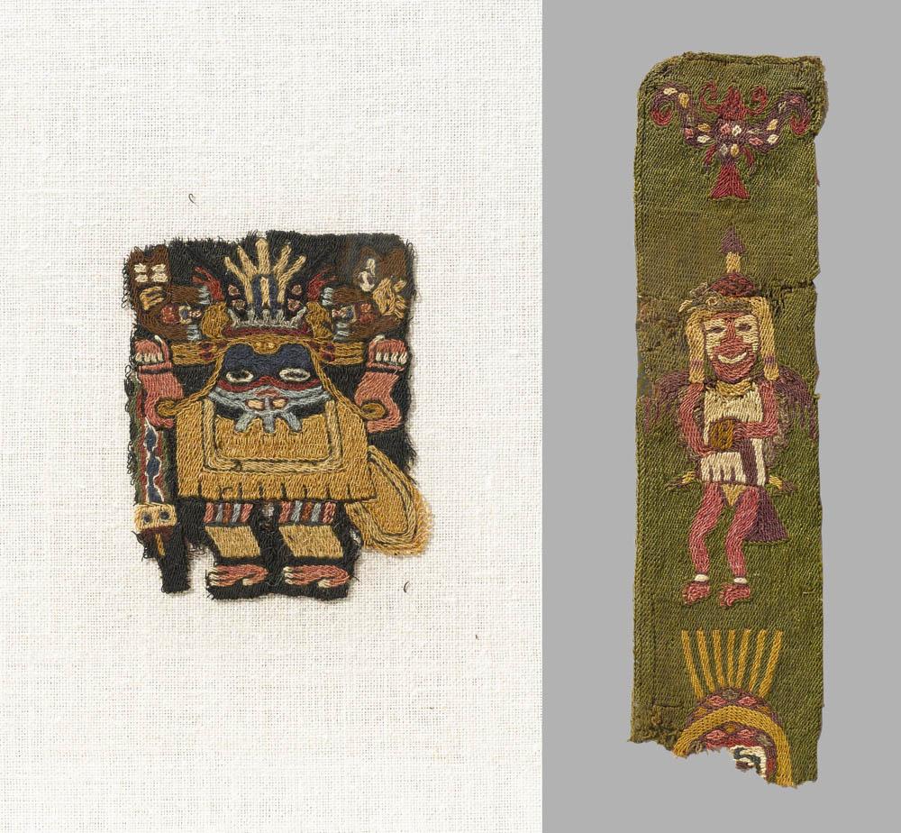 Lot 170 -  Two Paracas Textile Fragments, ca. 400 B.C. - A.D. 200