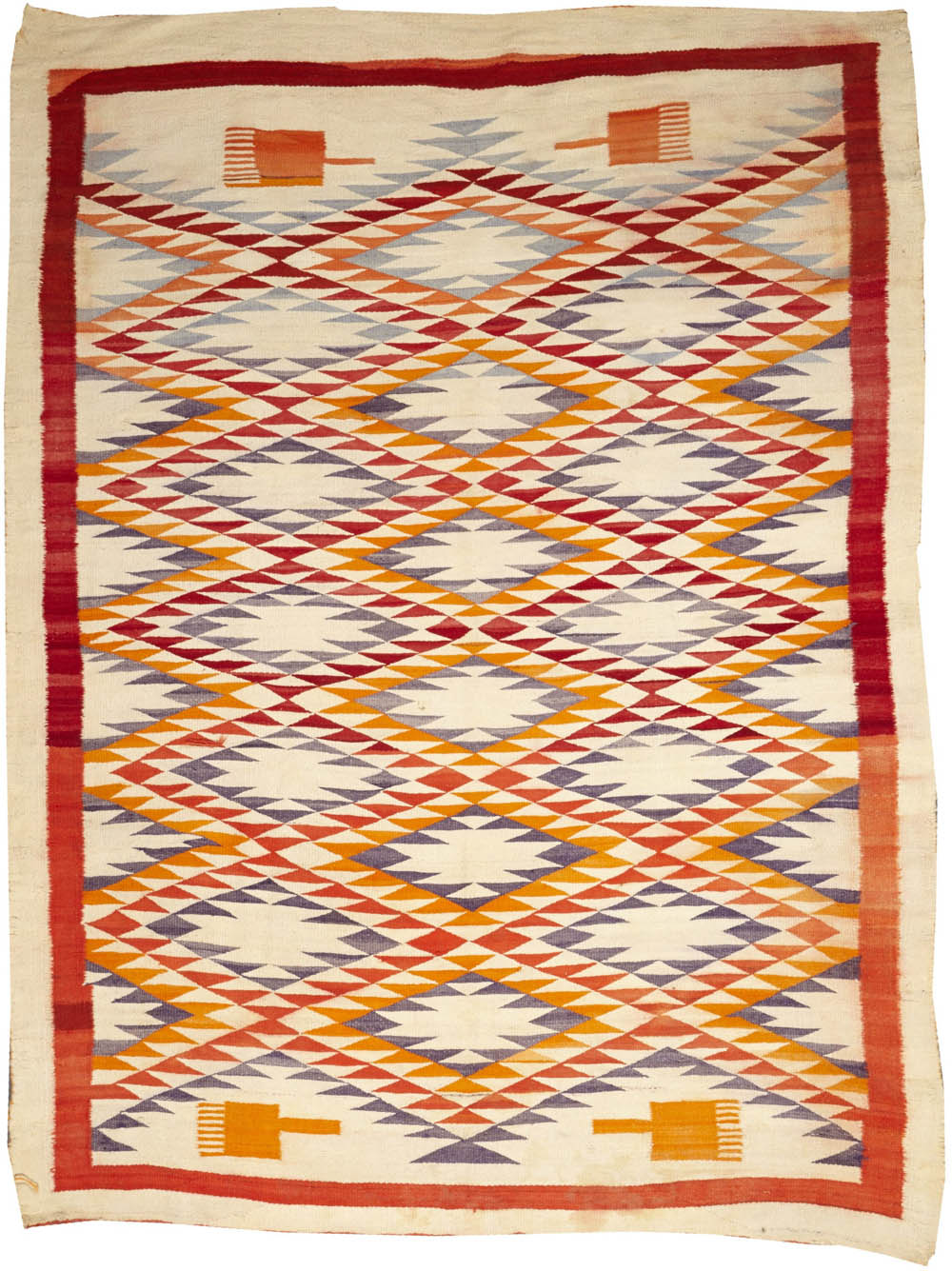 Lot 2233 - A Navajo transitional rug
