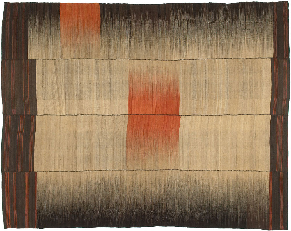 "Undiscovered Minimalism: Kelims at Böhmler, Munich, Kelim, Kiasar district, early to mid 20th century, 356 x 280 cm (11'8"" x 9'2"")"