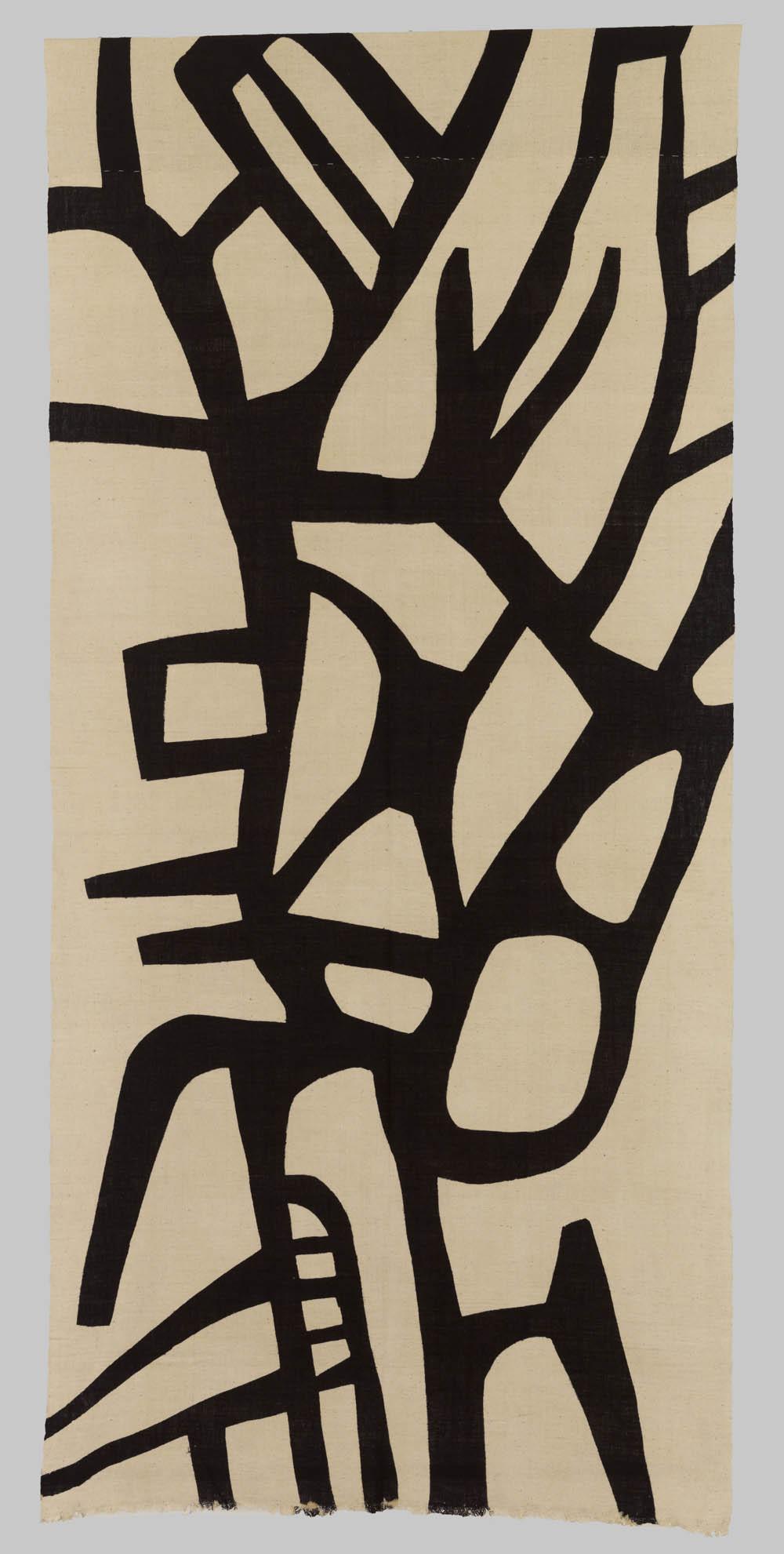 Untitled, 2007, Katazome dyed cotton, 275 x 130 cm, Don Samirō Yunoki, 2013 - MA 12585, © Paris, RMN - Grand Palais (Musée Guimet, Paris) / Thierry Ollivier