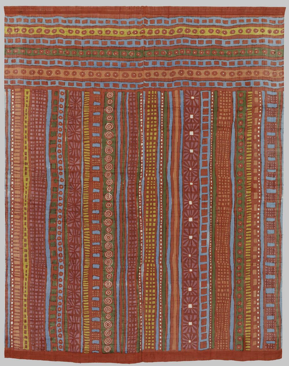 'Stripes', 1977, Silk, 196 x 156 cm, Don Samirō Yunoki, 2013 - MA 12565, © Paris, RMN - Grand Palais (Musée Guimet, Paris) / Thierry Ollivier