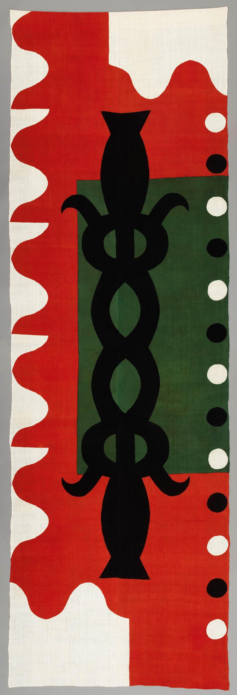 Katazome dyed textile, cotton, 2005, 362 x 115 cm Don Samirō Yunoki, 2009 - MA 12267, © Paris, RMN - Grand Palais (Musée Guimet, Paris) / Thierry Ollivier