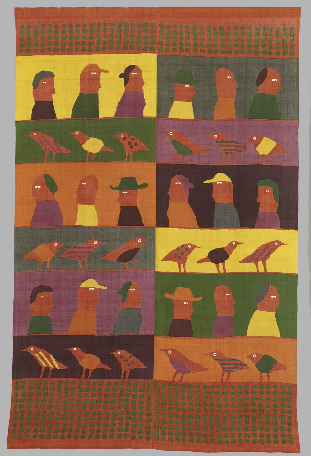 'To line '83',1983, Silk, 239 x 155 cm, Don Samirō Yunoki, 2013 - MA 12571, © Paris, RMN - Grand Palais (Musée Guimet, Paris) / Thierry Ollivier